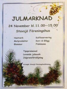 Julmarknad i Stavsjö Föreningshus @ Stavsjö Föreningshus